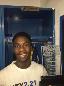 Dereck Oliver scored 26 points and was named Fox 45 player of the week.